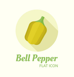 bell pepper isolated flat style round icon vector image