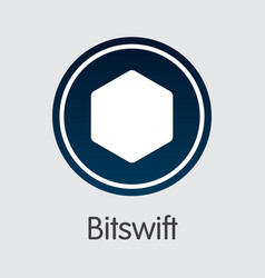 Bitswift - cryptocurrency graphic symbol vector