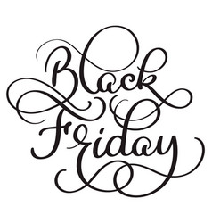 Black friday calligraphy text on white background vector