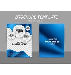 Blue flyer template design vector image