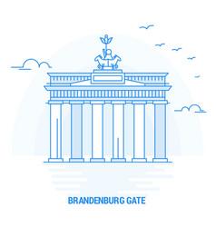 Brandenburg gate blue landmark creative vector