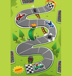 Car racing board game vector