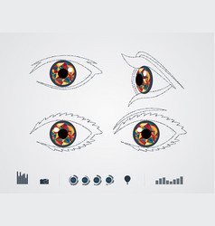 Color eye vector