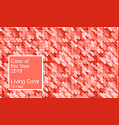 color of the year 2019 living coral background vector image