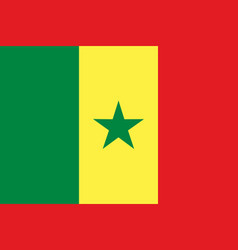 colored flag of senegal vector image