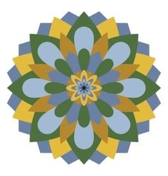 Colored mandala or circular pattern vector