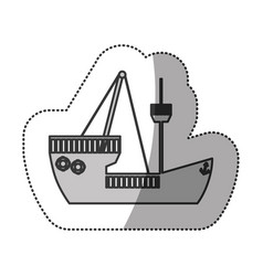 Contour ship maritime transpotation vector