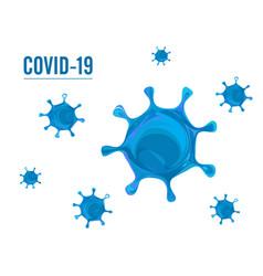 coronavirus covid19 19 isolated on white backgroun vector image