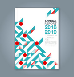 cover annual report 1079 vector image