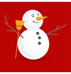 Cute little snowmen vector