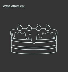 Dessert icon line element of vector