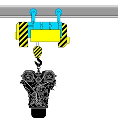 Device for lifting the engine for repair vector image vector image