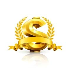 Dollar sign emblem vector