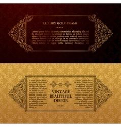 Eastern gold arabic lines design templates vector image