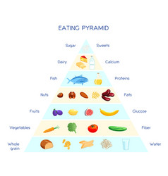 Eating pyramid concept vector