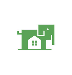 elephant home logo vector image