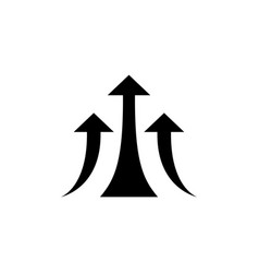 financial growth icon growing arrow on isolated vector image
