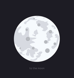 full moon in night moon with vector image