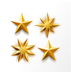 golden star ranking symbol top award vector image