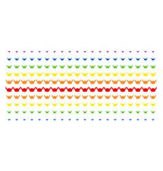 horned helmet shape halftone spectral array vector image