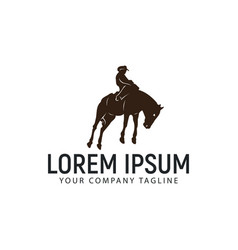horseback riding logo design concept template vector image