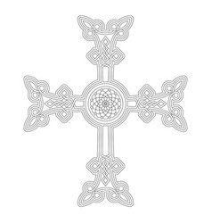 Icon with ancient armenian symbol khachkar vector