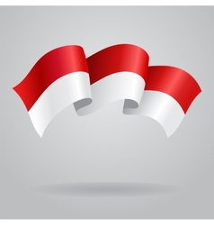 Indonesian waving flag vector