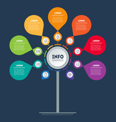 info graphic technology or education process vector image