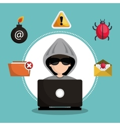 internet security information icon vector image