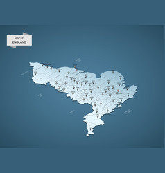 Isometric 3d england map concept vector