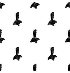 Joystick icon in black style isolated on white vector