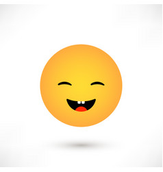 Laughing emoticon round vector