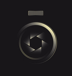 lens symbol for photographer vector image