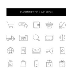 line icons set e-commerce pack vector image