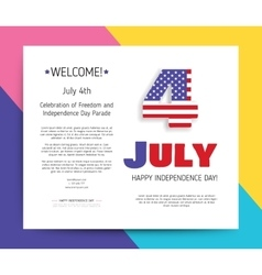 Love USA America Happy Independence Day vector