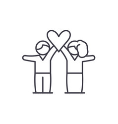 lovers line icon concept lovers linear vector image