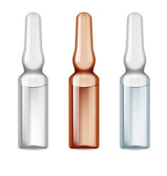 Medical vials vector