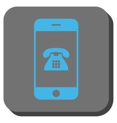 Mobile Phone Rounded Square Button vector