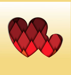 modern heart or love shape with papercut multi vector image