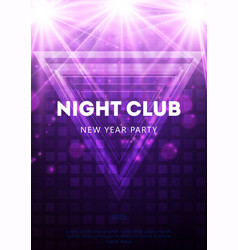New year 2020 night party flyer vector