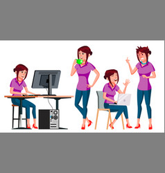 Office worker woman successful officer vector