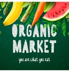 Organic food market vector image