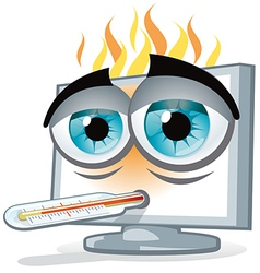 PC overheating vector