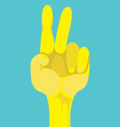 peace gesture vector image