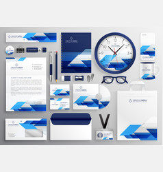 Professional modern business stationery set vector