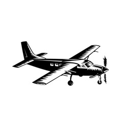 propeller airplane retro vector image