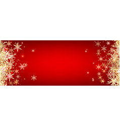 Red winter banner with snowflakes vector image