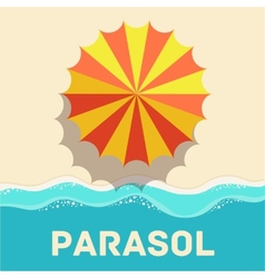 retro flat parasol icon concept design vector image