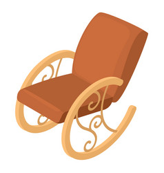 Rocking chair icon isometric 3d style vector