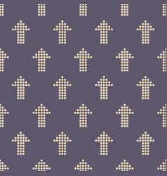 seamless color pattern with arrows motif vector image